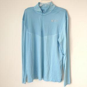 Nike quarter zip XL blue pullover jacket